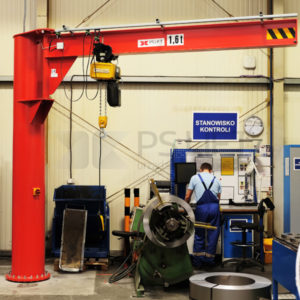 Slewing pillar jib crane Gryf (capacity up to 2500, max. rotation 270 degrees)