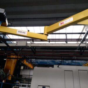 Articulated wall jib crane