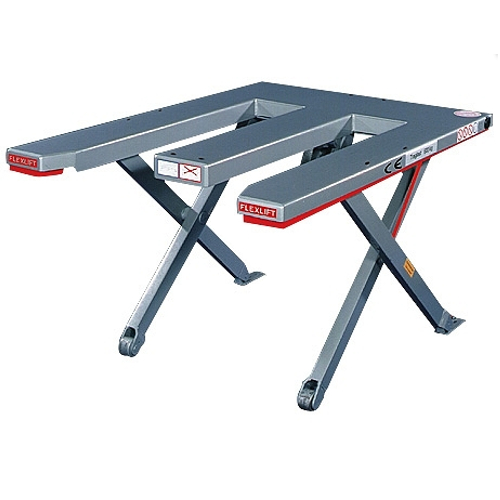 "Low profile lift tables - ""U"" and ""E"" shape platform"