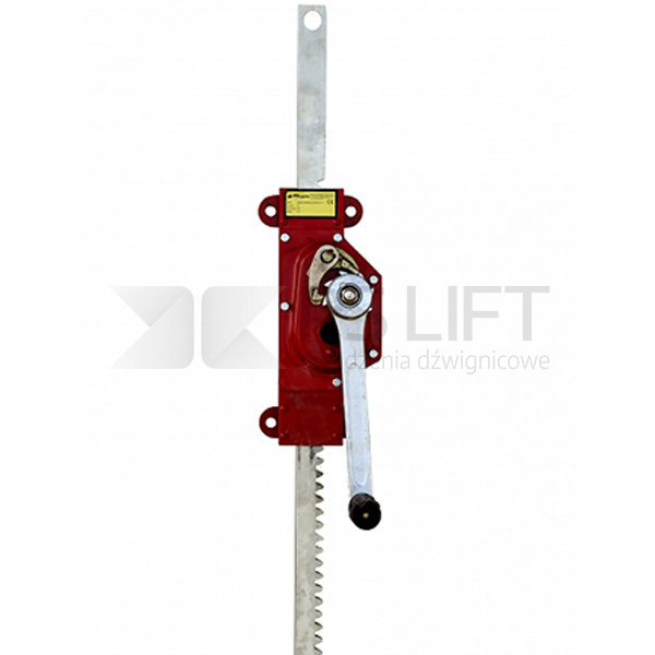 Wall mounted rack-and-pinion jack PS-MJW series