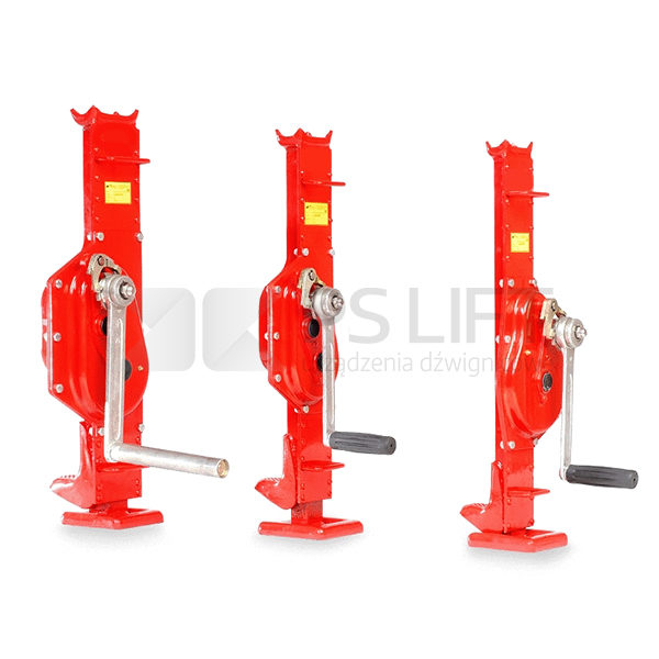 Rail steel jack low body height PS-HKB series