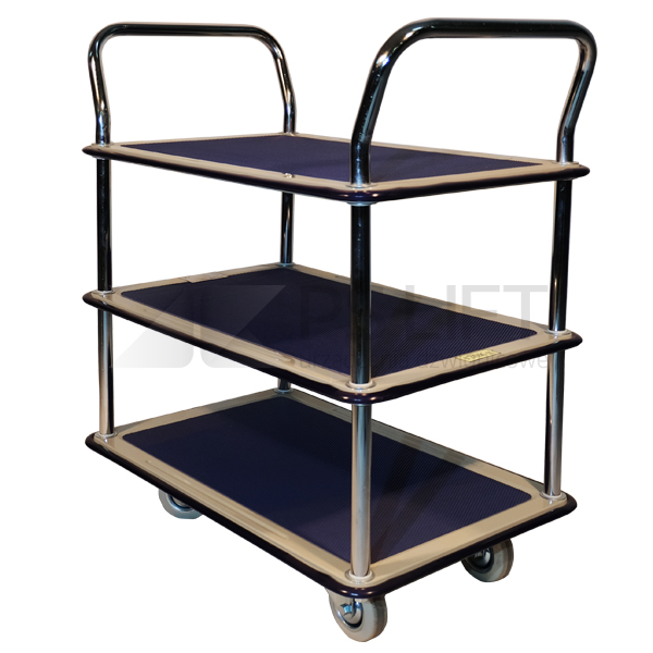 Platform trolley with two shelves PS-TD 2/120 series