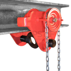 Geared trolley for the manual chain hoist PS-SG series