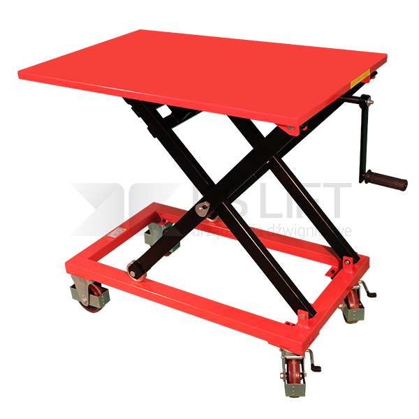 Scissor lift table trolley with crank handle PS HL 350 series