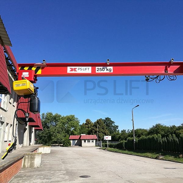 Adjustable slewing pillar jib crane