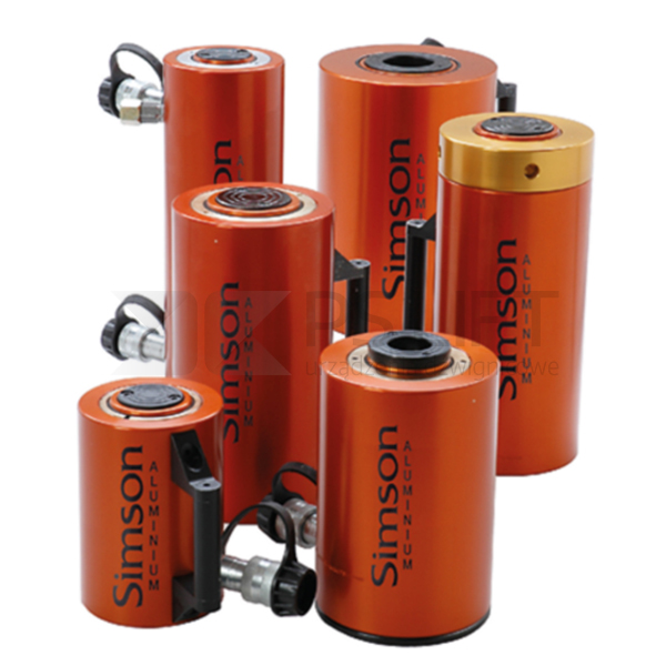 Aluminium single acting cylinders with spring return