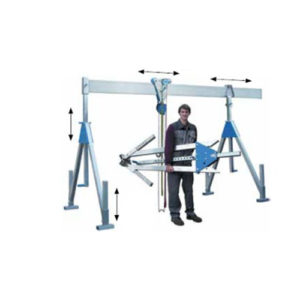 Aluminium stationary gantry crane, capacity 1000 and 1500 kg