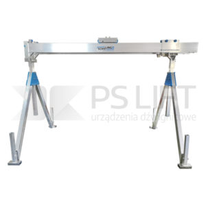 Stationary aluminium gantry crane, capacity 2000 and 3000 kg