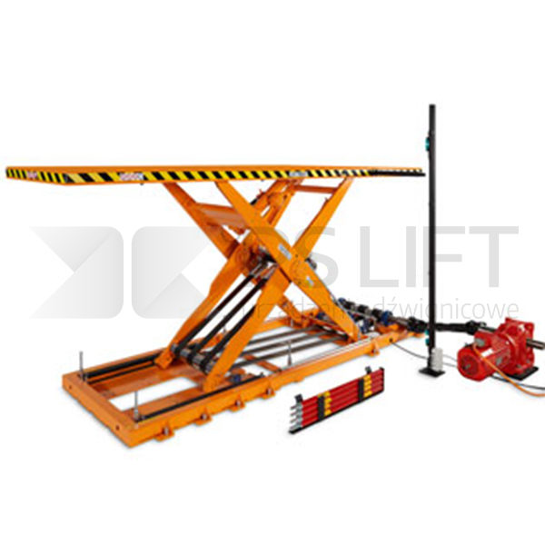 Belt lift table